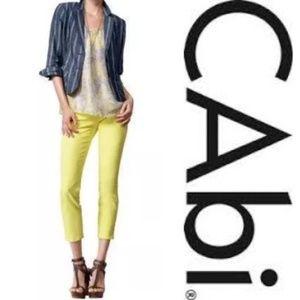 Cabi #760 Yellow Limon Bree Capri Ankle Jeans